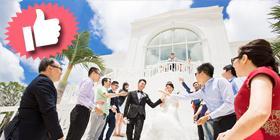 機能最佳、市區面海的浪漫歐風教堂婚禮~聖陶芮塔教堂,超優惠只要13萬多起!